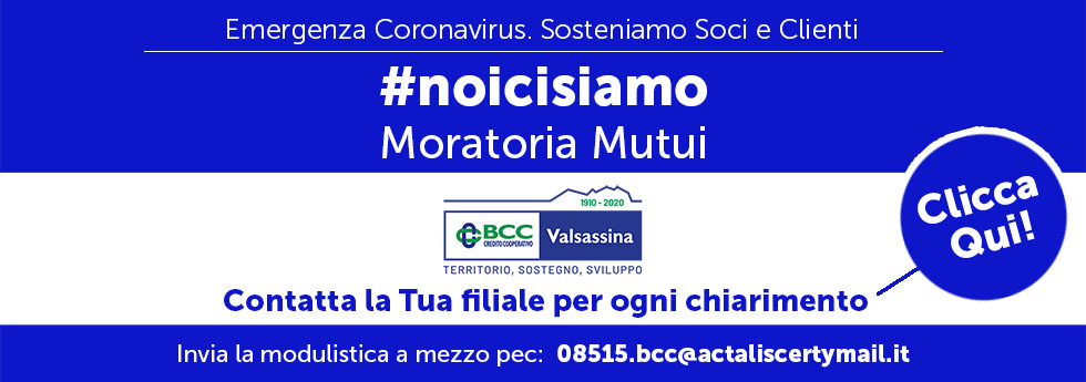 moratoria mutui bcc valsassina