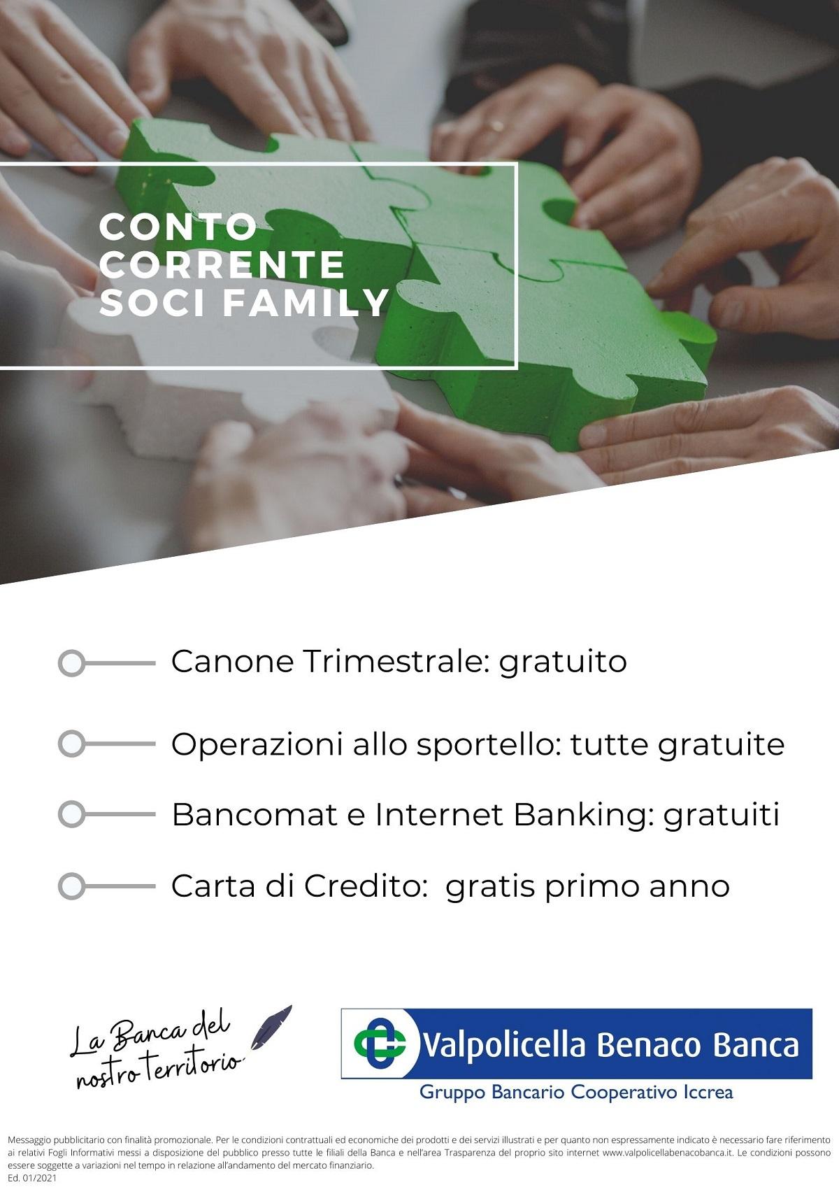 Conto Corrente Soci Family 2021
