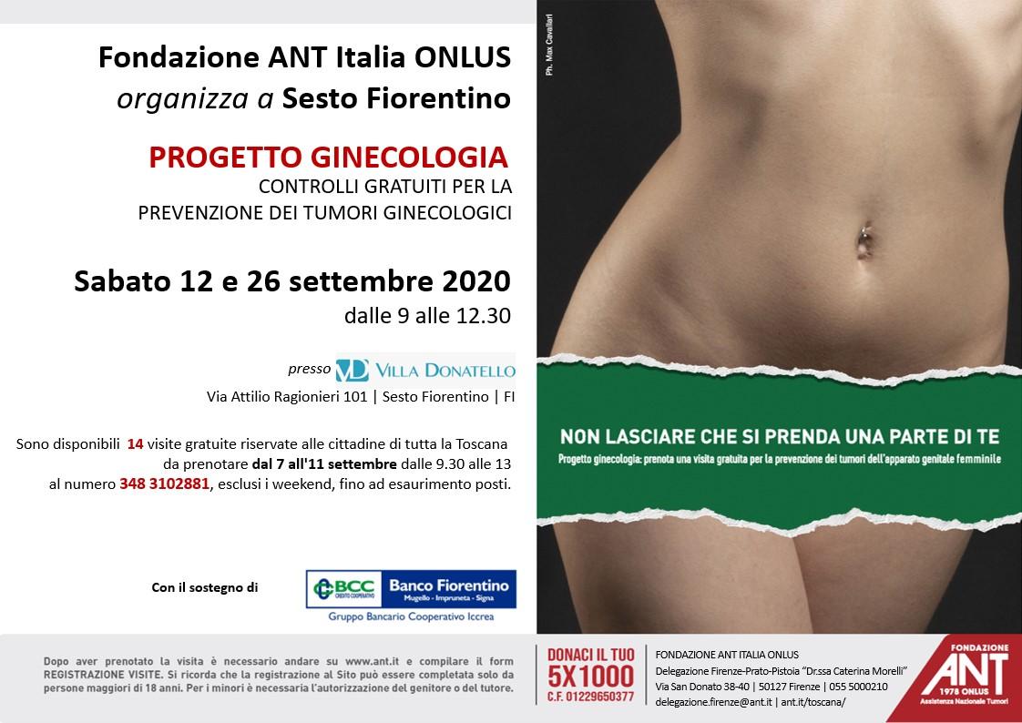 ANT Visite Gratuite Ginecologia Settembre 2020