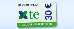 Buono spesa il cuore nel territorio 30 euro