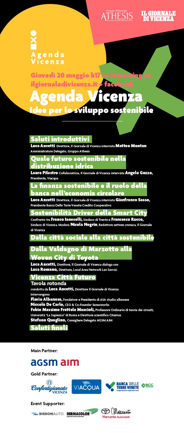 Agenda Vicenza Evento di presentazione