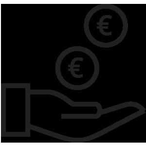 icona hand euro